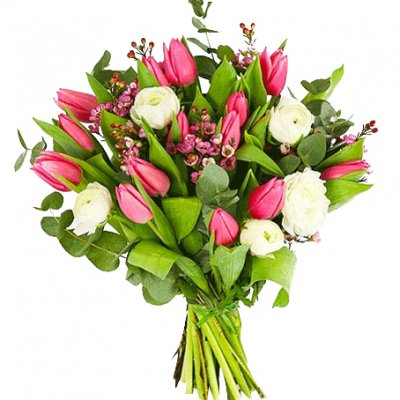 Skicka Blommor Karlskoga Rosa Tulpaner